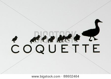 LOS ANGELES - FEB 20:  Coquette Producctions emblem, at the