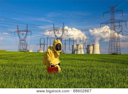 Nuclear power plant Dukovany in Czech Republic Europe