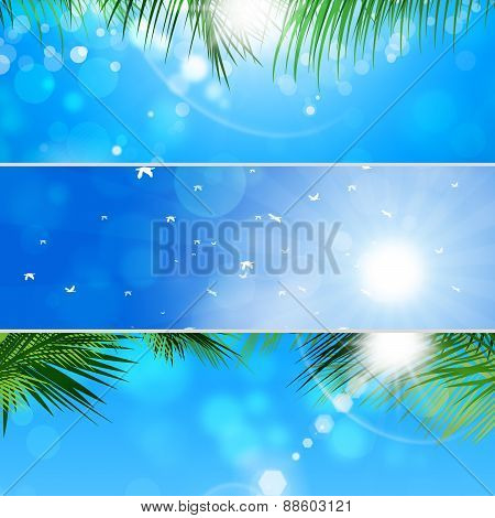 Tropical Banner Set