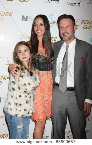 LOS ANGELES - FEB 20:  Coco Arquette, Christina McLarty, David Arquette at the