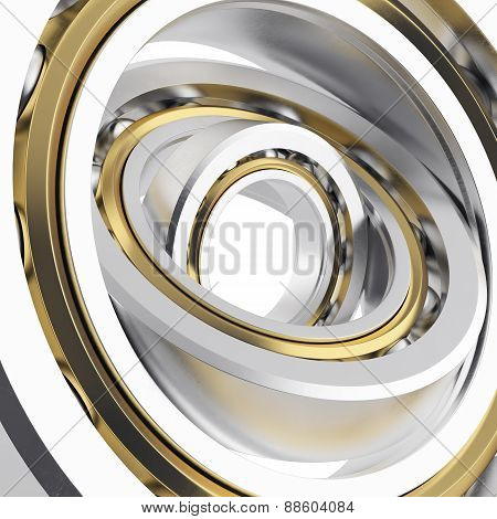 Isolated realistic whirling bearing