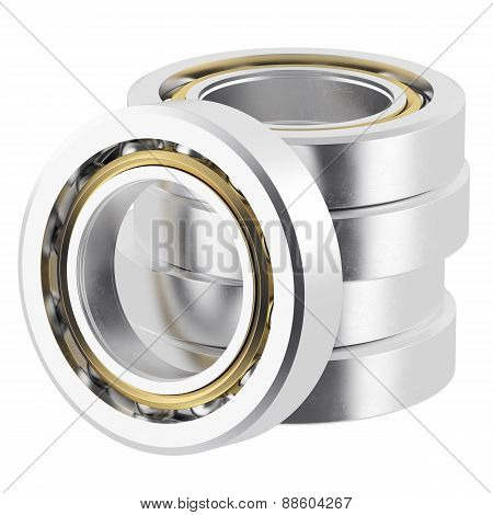 Stack isolated realistic bearings