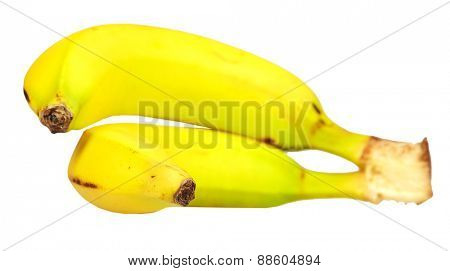 Fresh Banana isolated white background. Healthy diet.