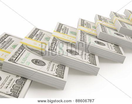 Illustration American dollars.