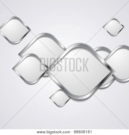 Abstract hi-tech metallic background. Vector design