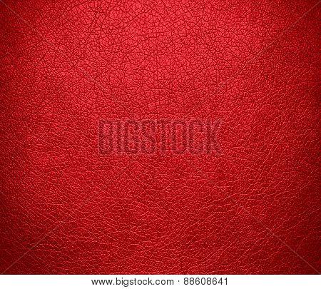 Alizarin crimson leather texture background