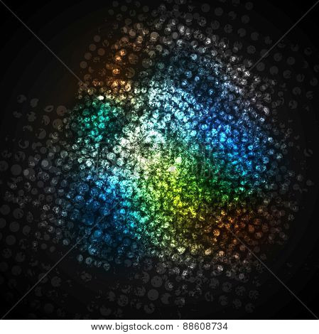 Colorful dark grunge halftone texture background. Vector eps 10 design
