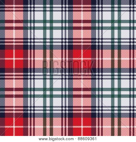 Tartan Seamless Texture In Red And Light Grey Hues