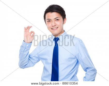 Asian businessman with ok sign