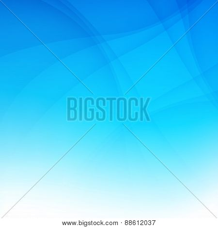 Modern Blue Smooth Background Abstraction With Swoosh Wave. Vector Illustration
