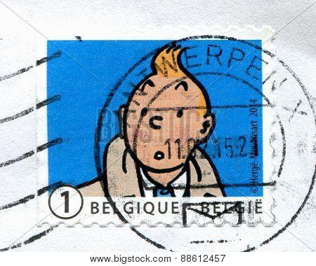 TinTin Postage Stamp, Belgium