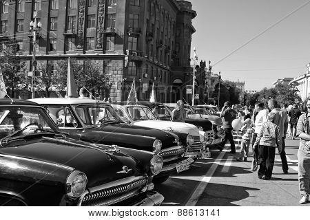 Exhibition of vintage cars