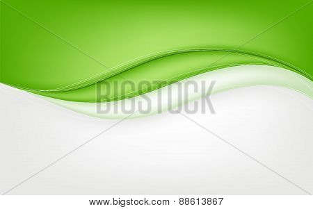 Abstract Green Wave Background. Vector Illustration