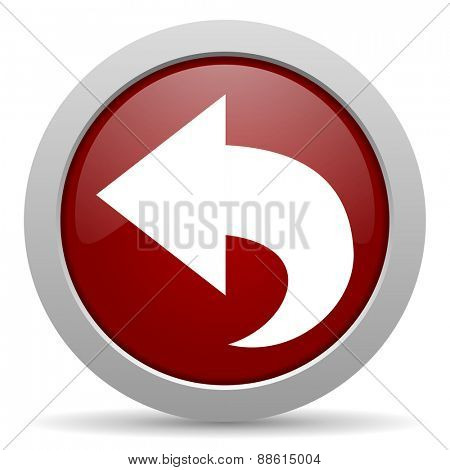 back red glossy web icon