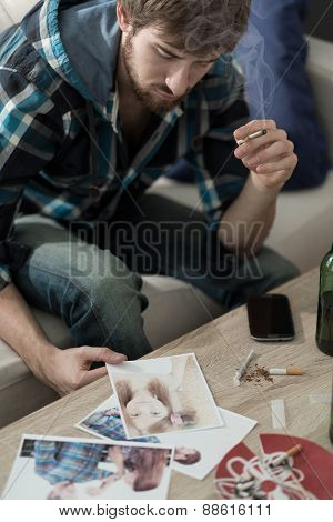 Looking At Photos With Girlfriend