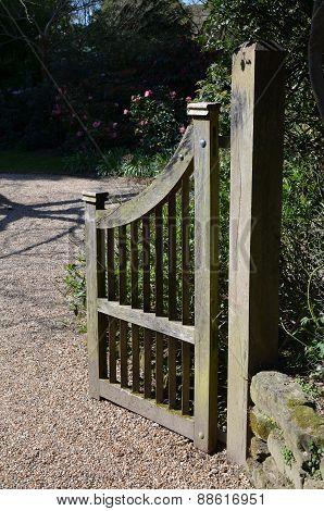 Rustic wood gate