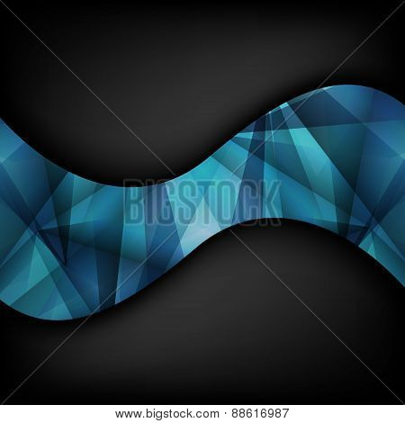 Abstract Luxury Background With Wave. Vector