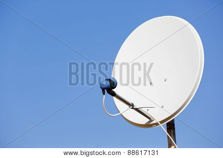 Common Satellite Dish Against Sky