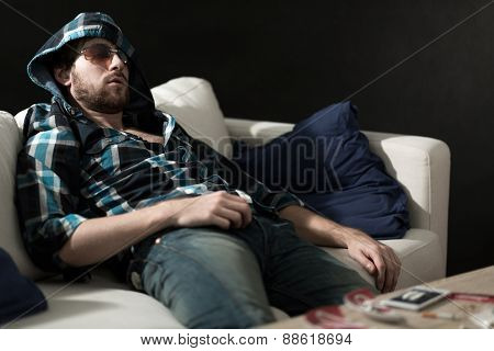 Junkie Sleeping After Drugs