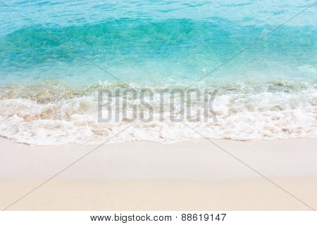 Beautiful white sand beach and tropical sea