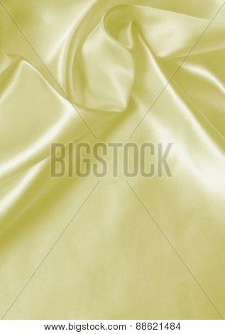 Smooth Elegant Golden Silk Or Satin As Wedding Background