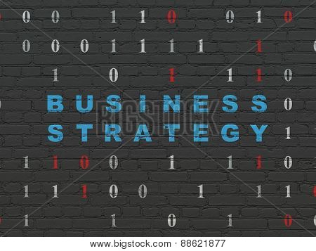 Finance concept: Business Strategy on wall background