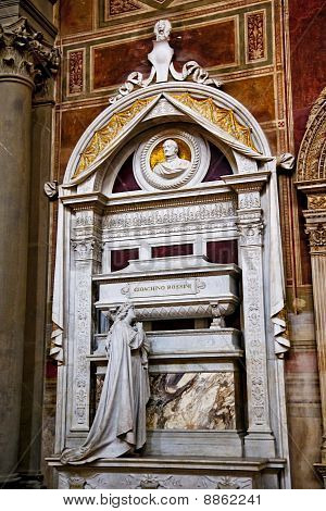 Rossini Tomb Basilica Santa Croce Florence Italy