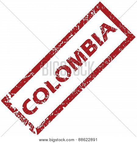 New Colombia rubber stamp