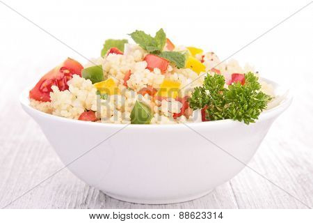 semolina and vegetable