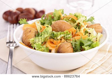 salad with carrot and chestnut