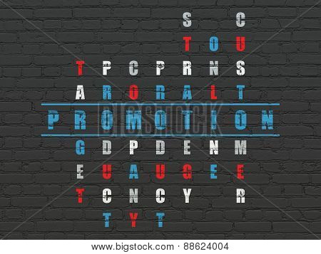 Marketing concept: word Promotion in solving Crossword Puzzle
