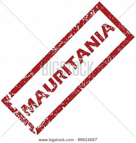 New Mauritania rubber stamp