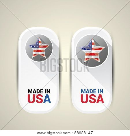 Made in USA Icon - Vector