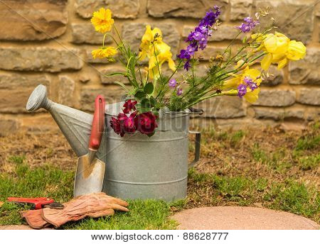 Lawn And Garden Still Life