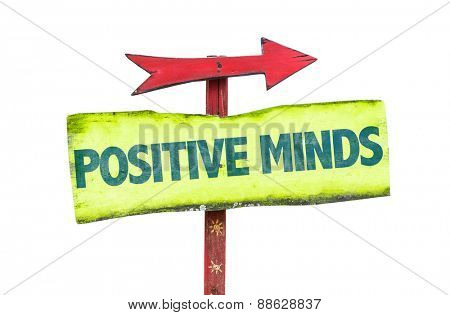 Positive Minds sign isolated on white
