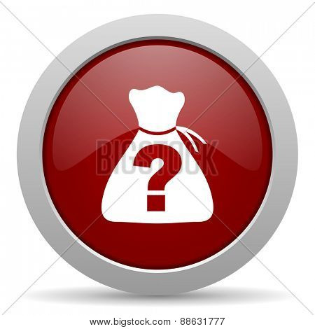 riddle red glossy web icon