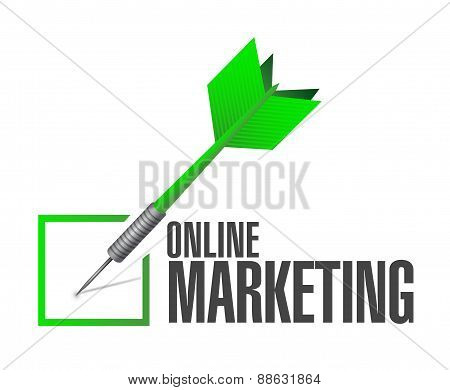 Online Marketing Check Cart Sign