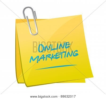 Online Marketing Memo Post Sign