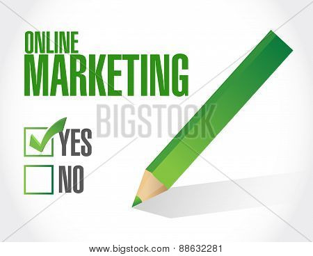 Online Marketing Approval Sign