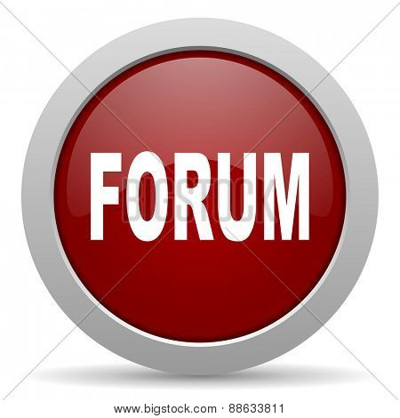 forum red glossy web icon