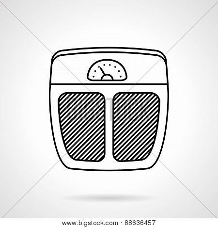 Floor scales black line vector icon