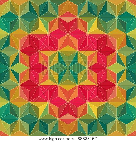 Color Triangle Pattern. Vector Background