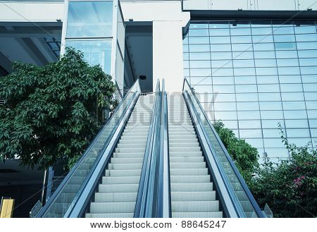 Escalator at modern business center