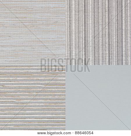 Set Of Blue Fabric Samples