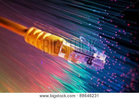 fiber optical with network cable