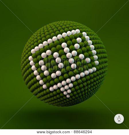 OK icon. Web design element. 3d vector illustration.
