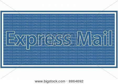 Express Mail - Blue and white coloured