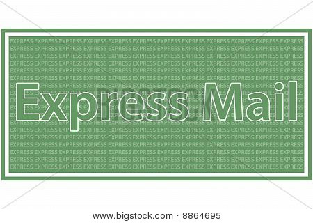 Express Mail - Green and white coloured