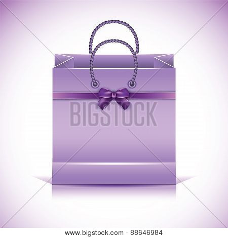 Violet Paper Shopping Bag.