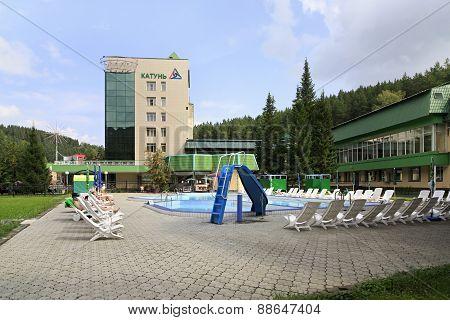 Outdoor pool in the Sanatorium Katun